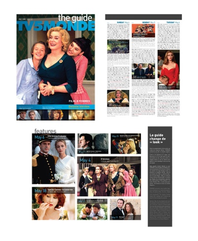 TV GUIDE: Layout and concepting, copy-editing, project management, vendor management